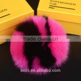 Fox Fur Ball Bag Pendant Letter Ball Keychain 14-15CM Big Ball Fashion Accessory