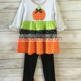 Halloween pumpkin hand-embroidered set baby clothes store interior design girls clothing sets fall