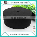 Black elastic webbing tape and cheap price fold over elastic