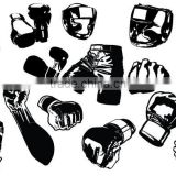 Cheap Professional Boxing Gloves Bag Gloves MMA Gloves Foucas Pad Shin Pad