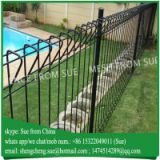 Ornamental welded wire roll top mesh fence for school