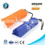 Mini lightweight sand free folding beach mat with stakes & loops Fashion outdoor compact parachute nylon pocket beach blanket
