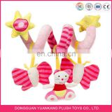 Plush Activity Spiral Baby Stroller Car Seat Ornament Crib Hangings Toy