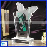High Quality chinese butterfly Crystal trophy 2017
