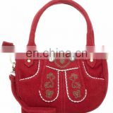 German Traditional Bag / suede leather trachten dirndl bags