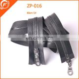 imitation leather zipper with metal puller