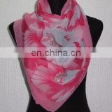 customized design wholesale ladies' fashion chiffon shawl scarf