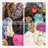 Top quality and Free Used clothing of custom scarf /poly scarf/own design silk scarf
