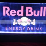 Wholesale high quality custom red bull energy drink led lighted acrylic sign