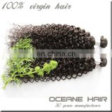 2014 Most stylish cheap natural tight curly hair clip in extensions