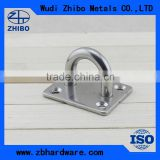 Top Quality Stainless Steel AISI304 AISI316 Square Marine Pad Eye Plate 5mm 6mm 8mm