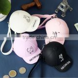 Hot! packs of silicone cute cartoon candy colored baseball cap Coin Pocket Mini cap bag coin purse                                                                                                         Supplier's Choice