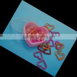 Sweet shape paper clip in heart shape plastic box