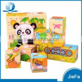 Custom Preschool Educational Block Set Wooden Cube Puzzle                                                                         Quality Choice