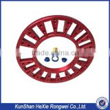 cnc precision engraving machine parts red anodized alunminum                                                                                                         Supplier's Choice
