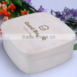 Natural round shape mini wooden bark box wood cheese box wholesale