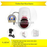 Home security products! Wireless Outdoor siren alarm with Magnectic Door gap contact sensor and keychain