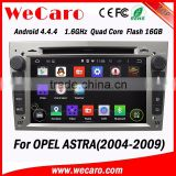 WECARO Bluetooth RDS 3G wifi V-10 disc Pure Android 4.4.4 Car Radio Dvd Gps Navigation System for Opel Astra h 2004 - 2009