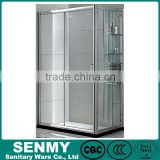 china supplier cheap 3 panel frosted glass sliding folding aluminium profiles for shower enclosure