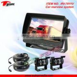 Quad split display screen rear view system with 7inch TFT LCD monitor, HD night vision camera