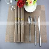 Light brown color pvc mat table decoration handmade frame dining mat 45*30cm