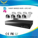 2.0 Megapixels security Outdoor IP Camera 8CH wireless cctv camera system with 1080P IP Camera kit