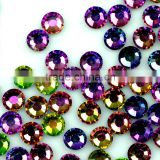 Rainbow Colour Hotfix Rhinestones, Sparkling Crystal Strass, Iron on Crystals 1440 pcs/bag
