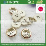 Sedex Audited Factory 2 Pillar vacuum plating resin button, vacuum plating polyester T-shirt button