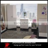 Mirror high gloss white wardrobe closet bedroom furniture set                                                                                                         Supplier's Choice