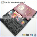 faux crocodile leather passport cover credit card holder moeny wallet wholesale                                                                         Quality Choice