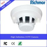 High Definition PAL NTSC CE FCC ROHS Smoke Detector Small Hidden Camera