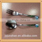 Spoon knife forks set of stainless steel material made by Junzhan factory directly and sell in factory price