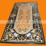 Marble Table Top, Stone Inlay Dining Table Top, Inlay Stone Table, Stone Table Top