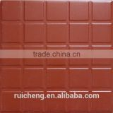 Red clay tile flooring 300x300mm non-slip high quality for outdoor floor tile decoration
