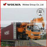 Wolwa micro auto truck crane with dilling machine or basket for sale