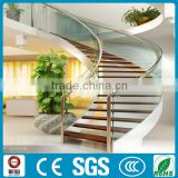 loft residential portable curved steel wood stairs