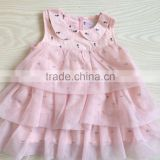 haigh quality ruffle baby girl party dress baby pink collar cake dress dress baby tutu dress
