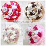 High quality decoration artificial flower wedding rose bundle bride bouquet                                                                         Quality Choice