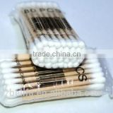 Belifa disposable hygienic wooden cotton swabs