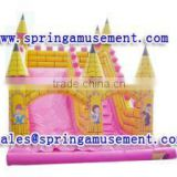 giant golden castle inflatable water slide, PVC inflatable slide, inflatables SP-SL047