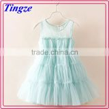 Hot children lace material pure color dress for 2-7 year old little girl dress baby child dress wholesale