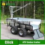ATV Quad forest timber trailer with electric winch crane