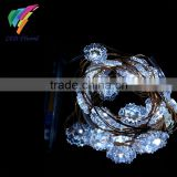 Snowflake Theme with 3AA Battery Powered Packs 3M 30 LED Copper String Fairy Lights for Christmas Holiday Lighting