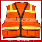 HVW002 High Visibility Polyester ANSI Class 2 Mesh Flame Retardant Wholesale Safety Vest