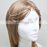 Thick hair chain head jewelry/indian bridal hair jewelry