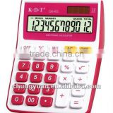 12 digits printing electronic calculator with red color Q8-RD