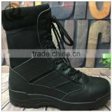Factory price black leather waterproof army tactical military boot and shoes