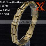 14K Yellow Gold Bracelet Stainless Steel 316bracelet men's bracelet, bracelet anchor
