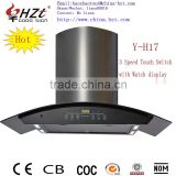 Wonderful Touch switch Stainless steel filter kitchen range hood for sale