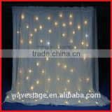HOT WLK-3W White fireproof Velvet cloth White leds curtain wedding decoration white backdrop